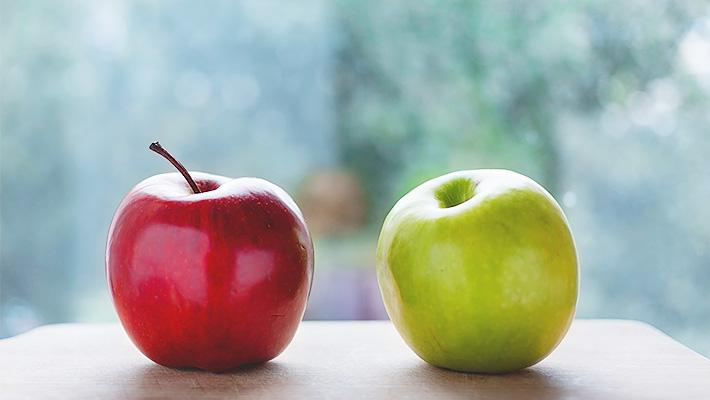 リンゴと青リンゴ