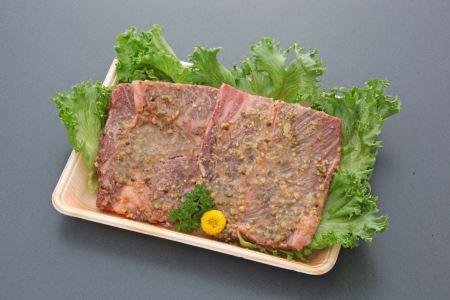 味自慢A4近江牛肩ロースステーキ(山椒味噌漬け)【200g×2枚】【AJ03SM】