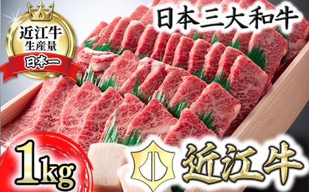 【4等級以上】近江牛バラ焼肉希少部位【1kg】折箱入り【H010SM】