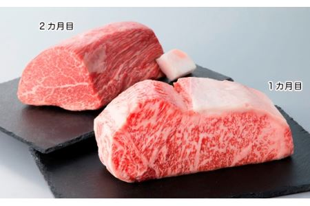 宝牧場 近江牛サーロインブロック1kg・シャトーブリアンブロック1kg贅沢コース(頒布会2カ月)