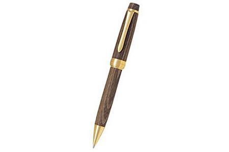 重厚な木目を感じる槐の木で作った高級ボールペン1本と大竹手すき和紙のレターセット