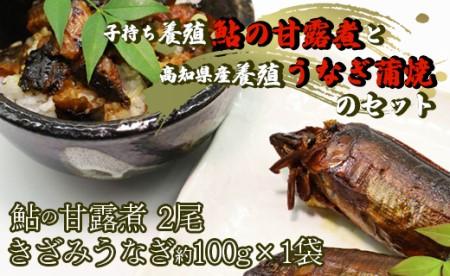 おせちにお勧め!子持ち鮎の甘露煮とうなぎ蒲焼き C-177