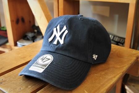 47CLEAN UP ニューヨークヤンキース キャップ帽フリーサイズネイビー