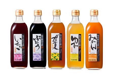 毎日飲める!「蜂蜜専門店の果実酢」 500ml×5本