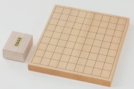 第67期王将戦上峰町初開催記念!!「卓上将棋盤(1寸)」木製駒付きセット