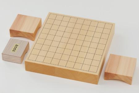 第67期王将戦上峰町初開催記念!!「卓上将棋盤(2寸)」木製駒付きセット