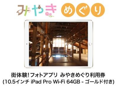 街体験フォトアプリ みやきめぐり利用券  (10.5インチ iPad Pro Wi-Fi 64GB - ゴールド MQDX2J/A 付き)