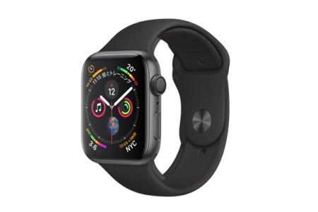2018年モデル】  Apple Watch  Series 4(GPSモデル)- 44mm スペースグレイアルミニウムケースとブラックスポーツバンド MU6D2J/A