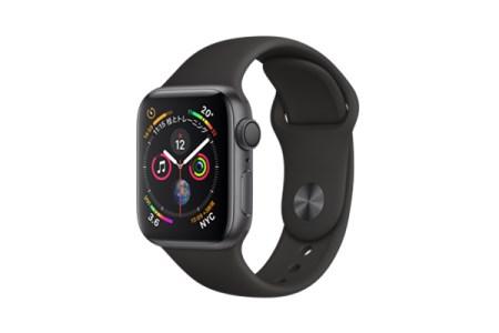2018年モデル】  Apple Watch  Series 4(GPSモデル)- 40mm スペースグレイアルミニウムケースとブラックスポーツバンド MU662J/A