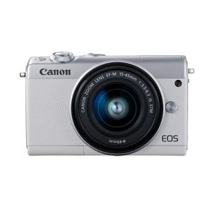 キヤノンミラーレスカメラ(EOSM100 EF-M15-45 IS STM レンズキット・ホワイト)