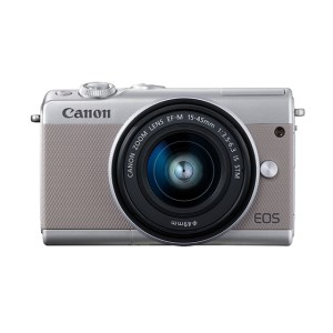 キヤノンミラーレスカメラ(EOSM100 EF-M15-45 IS STM レンズキット・グレー)