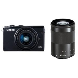 キヤノンミラーレスカメラ(EOSM100ダブルズームキット・ブラック)