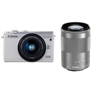 キヤノンミラーレスカメラ(EOSM100ダブルズームキット・ホワイト)