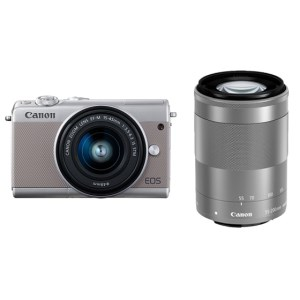 キヤノンミラーレスカメラ(EOSM100ダブルズームキット・グレー)