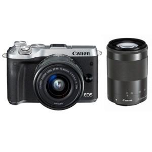 キヤノンミラーレスカメラ(EOSM6ダブルズームキット・シルバー)