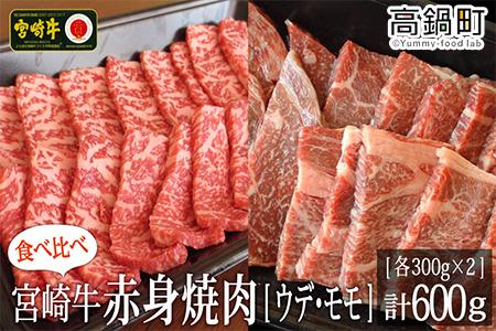 <宮崎牛赤身焼肉600g(300g×2)>2か月以内に順次出荷