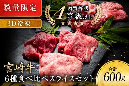 《数量限定》宮崎牛6種食べ比べスライスセット【3D冷凍】 肉 牛 牛肉