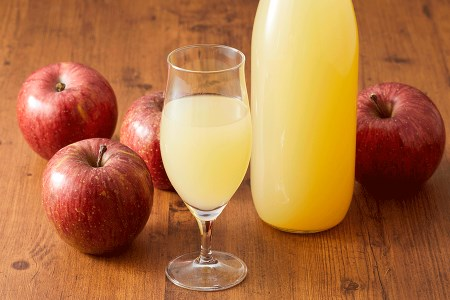 マル広農園果汁100%ストレートりんごジュース1L×2本
