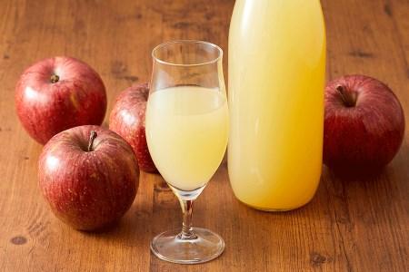 マル広農園果汁100%ストレートりんごジュース1L×4本