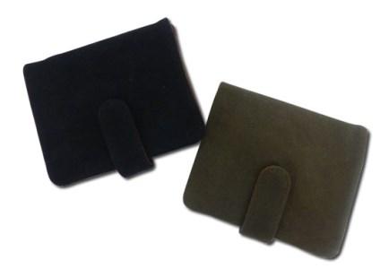 帆布2つボタン財布 ブラック