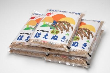 特別栽培米玄米はえぬき10kg(10月以降順次発送)