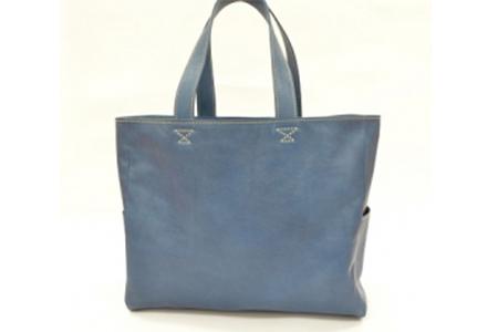 minca/トートバッグ横型/BLUE
