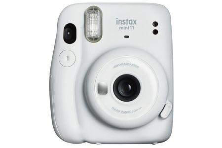 """インスタントカメラ""""チェキ"""" instax mini 11(アイスホワイト)+専用フィルム1パック(10枚)付"""