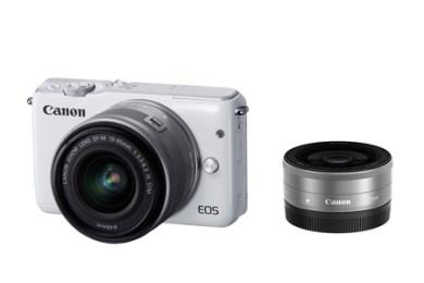 ミラーレスカメラ EOS M10 ダブルレンズキット(ホワイト)