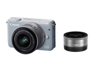 ミラーレスカメラ EOS M10 ダブルレンズキット(グレー)