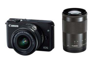 ミラーレスカメラ EOS M10 ダブルズームキット(ブラック)
