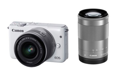 ミラーレスカメラ EOS M10 ダブルズームキット(ホワイト)