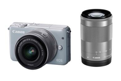 ミラーレスカメラ EOS M10 ダブルズームキット(グレー)