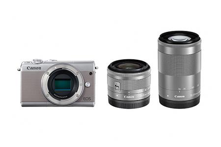ミラーレスカメラ EOS M100 ダブルズームキット(グレー)