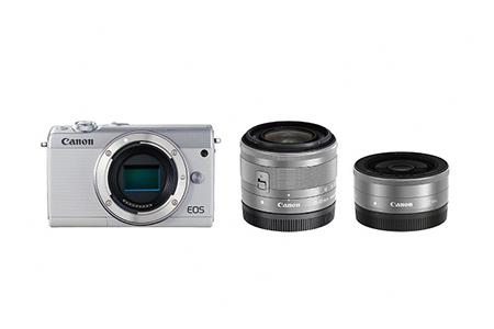 ミラーレスカメラ EOS M100 ダブルレンズキット(ホワイト)