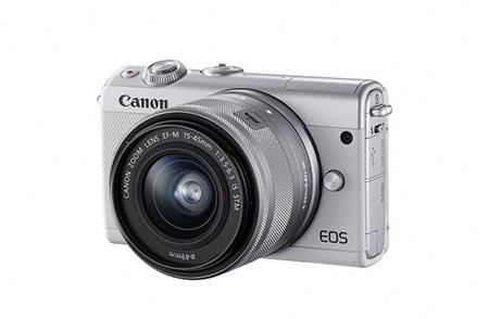 ミラーレスカメラ EOS M100 レンズキット(ホワイト)