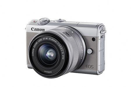 ミラーレスカメラ EOS M100 レンズキット(グレー)