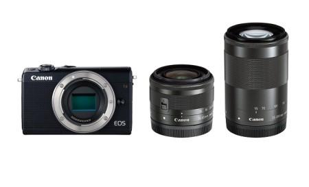 ミラーレスカメラ EOS M100 ダブルズームキット(ブラック)