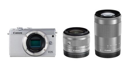 ミラーレスカメラ EOS M100 ダブルズームキット(ホワイト)