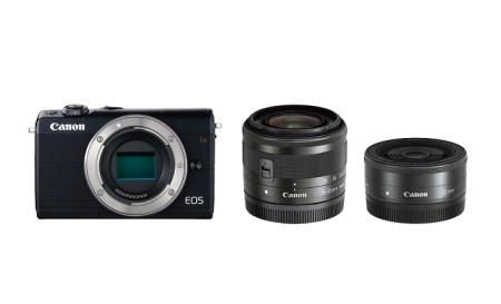ミラーレスカメラ EOS M100 ダブルレンズキット(ブラック)