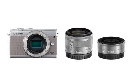 ミラーレスカメラ EOS M100 ダブルレンズキット(グレー)