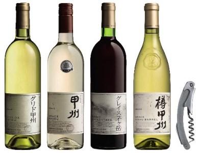 〈山梨・中央葡萄酒〉グレイスセット(赤・白ワインセット)B