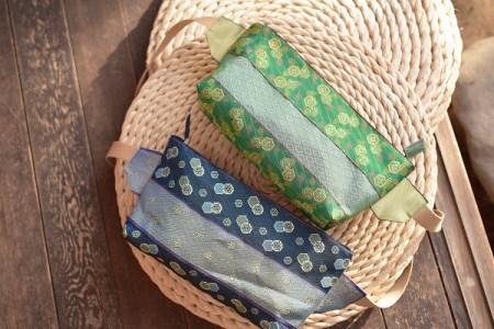 畳の縁(へり)で作ったメッセンジャーバッグと小物
