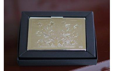 [A4.5]伝統工芸の技術であなただけのデザインに!「彫金 名刺入れ(銀メッキ仕上げ)」