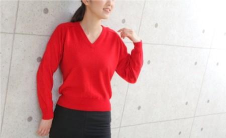 < ニット > Vセーター(メンズ) カシミヤ100%