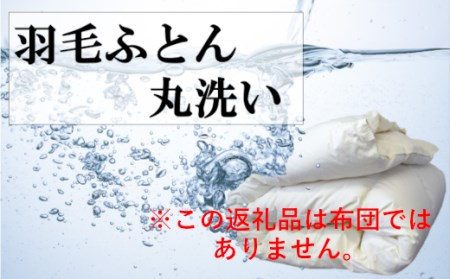 羽毛布団丸洗いクリーニング 防ダニ加工&保管付き(シングル2枚又はダブル1枚)
