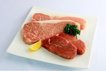 A5飛騨牛『ヒレ(2枚)』と『サーロイン(厚切り2枚)』ステーキセット