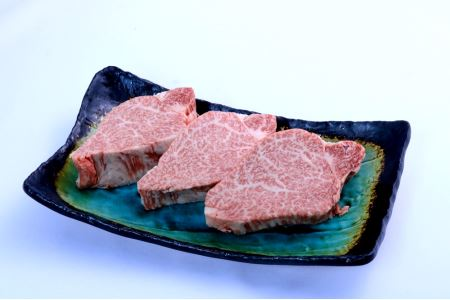 A5飛騨牛『ヒレ(3枚)』ステーキセット