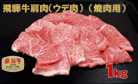 A4等級以上 飛騨牛肩肉(ウデ肉) (焼肉用) 1kg