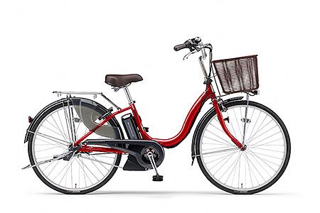 191YAMAHA電動アシスト自転車(ナチュラM)(24インチ・リッチレッド)