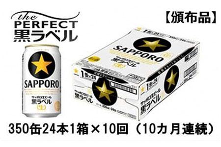 【頒布会】サッポロ生ビール黒ラベル350ml缶24本1箱×10回(10カ月連続)